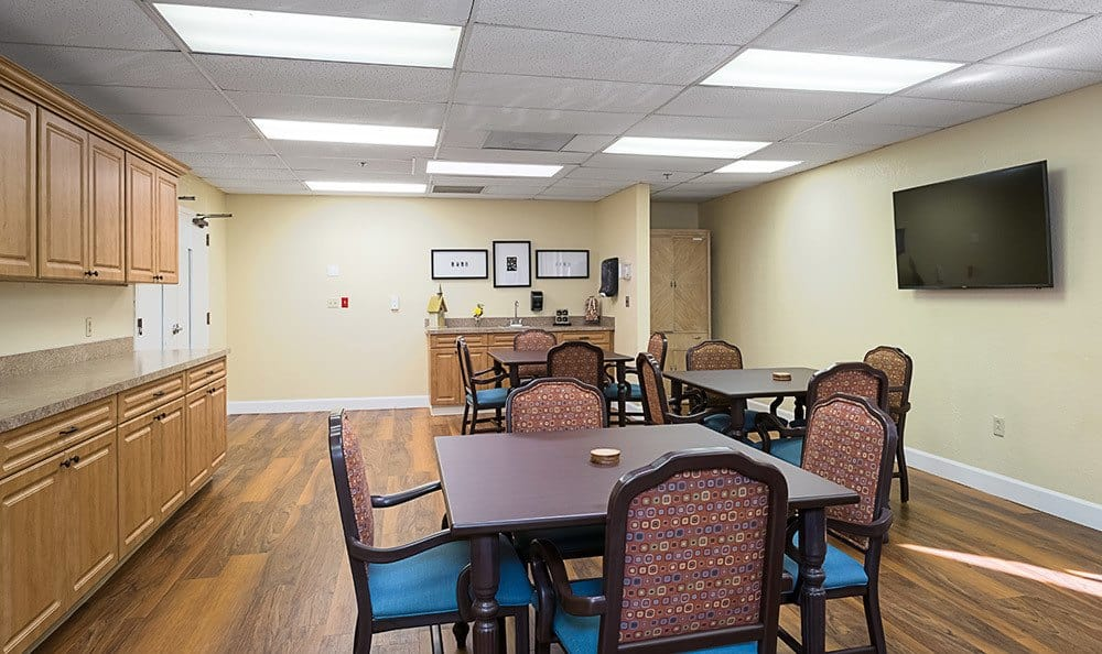 Community activity area at Senior-Living in Dunedin, FL