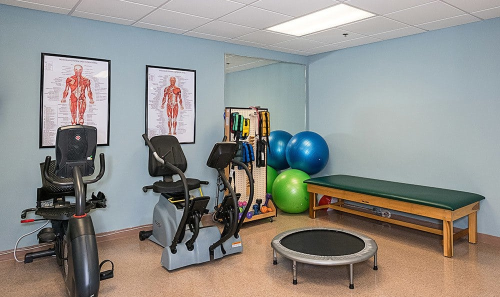 Fitness center at Senior-Living in Dunedin