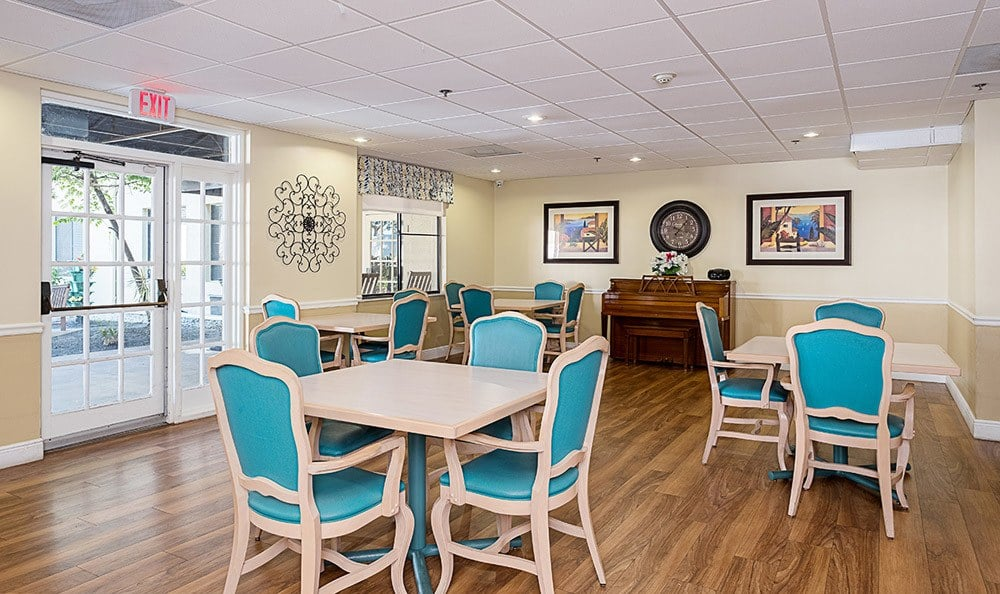 Dining area of Senior-Living in Dunedin, FL
