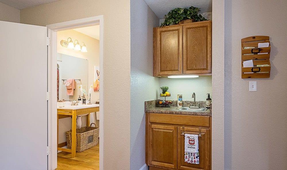 Kitchen model at Grand Villa of Dunedin in Florida