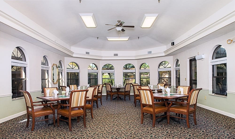 Dining Area at Grand Villa of Englewood in Englewood, FL