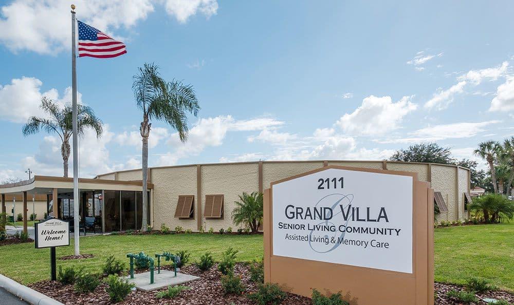 Welcome Sign at Grand Villa of Lakeland in Lakeland, FL