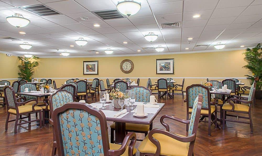 Dining Area at Grand Villa of Lakeland in Lakeland, FL