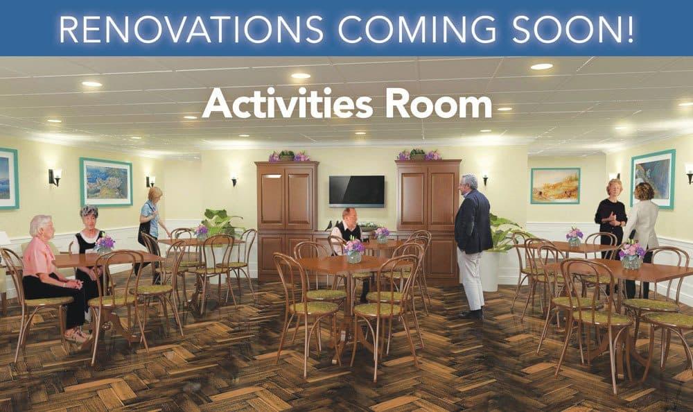 Activities Room at Grand Villa of Deerfield Beach