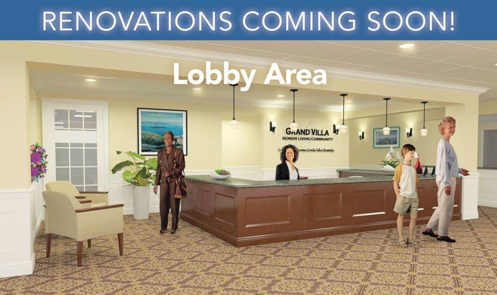 Lobby Area of Grand Villa of Deerfield Beach