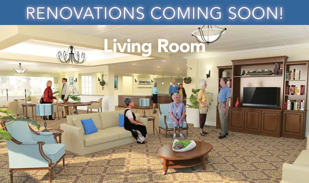 Living Room at Grand Villa of Deerfield Beach