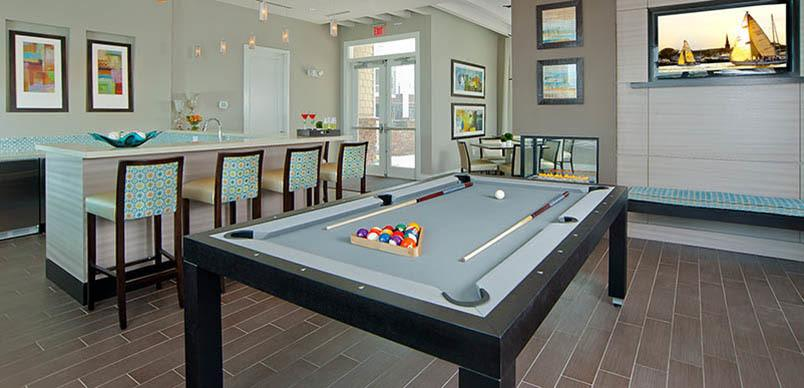 Play billiards in our stunning rec room at The Morgan
