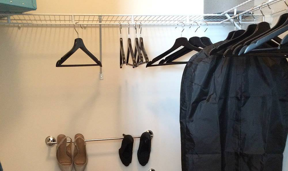 Our apartments feature walk-in closets with plenty of space