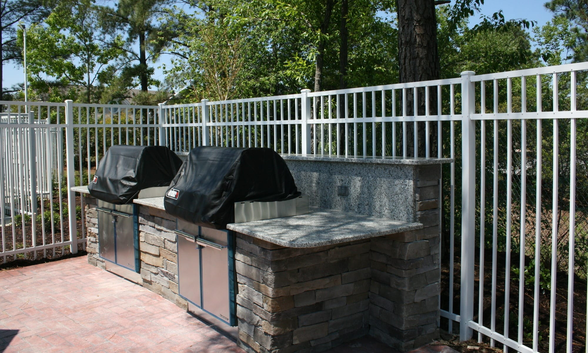BBQ area at The Grove at Spring Valley apartments