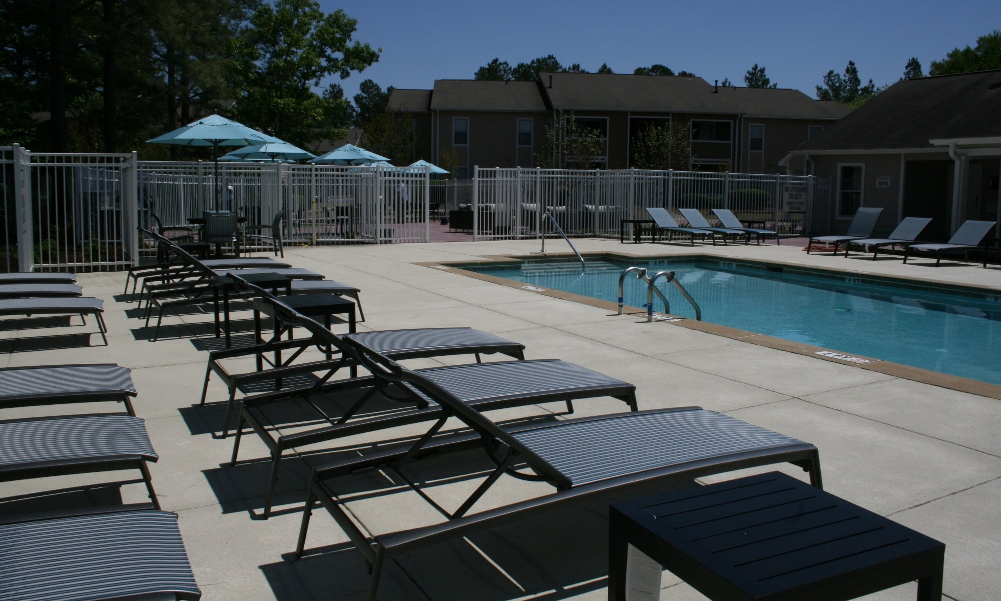 Swimming pool at our apartments in Columbia, SC