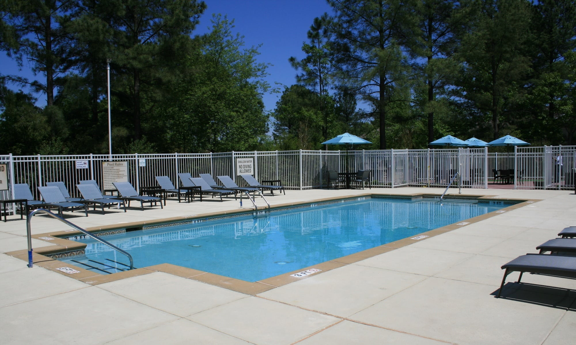 Sparkling swimming pool in Columbia, SC