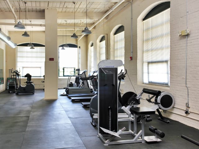 Exercise studio here at Johnston Mill Lofts