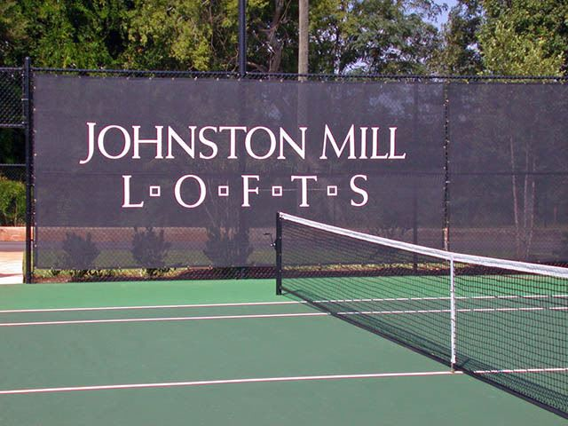 The tennis courts are amazing any time of year at Johnston Mill Lofts