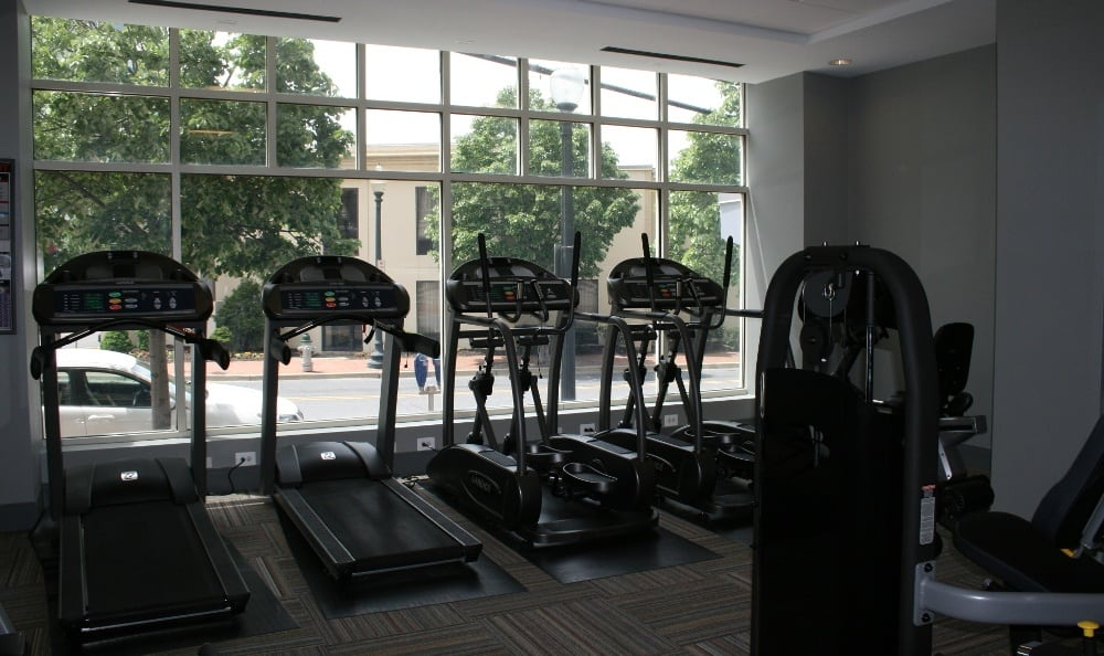 Exercise facility at Silver Spring, MD apartments