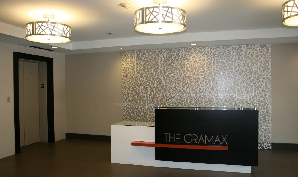 Front desk at The Gramax in Silver Spring, MD