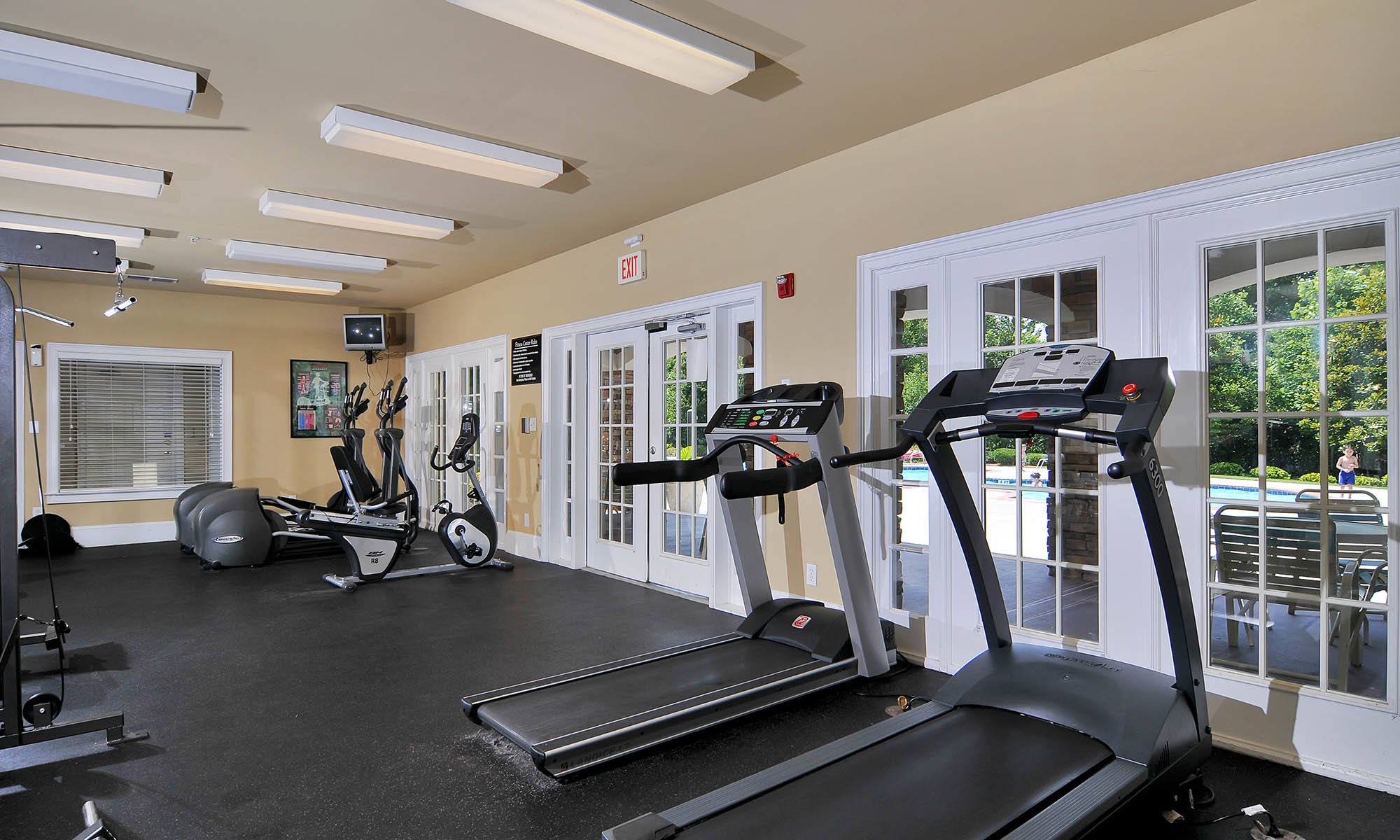Fitness center at The Reserve at Ivy Creek