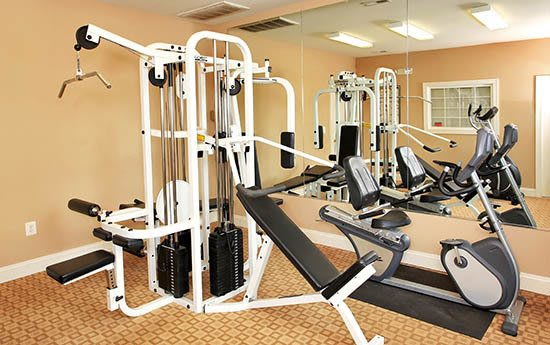 Fitness center at Salem Fields