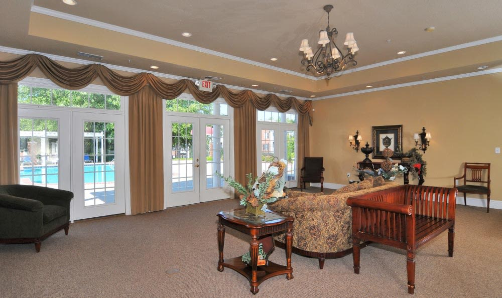 Interior of the clubhouse at Arbor Lake Apartments in Covington, GA.