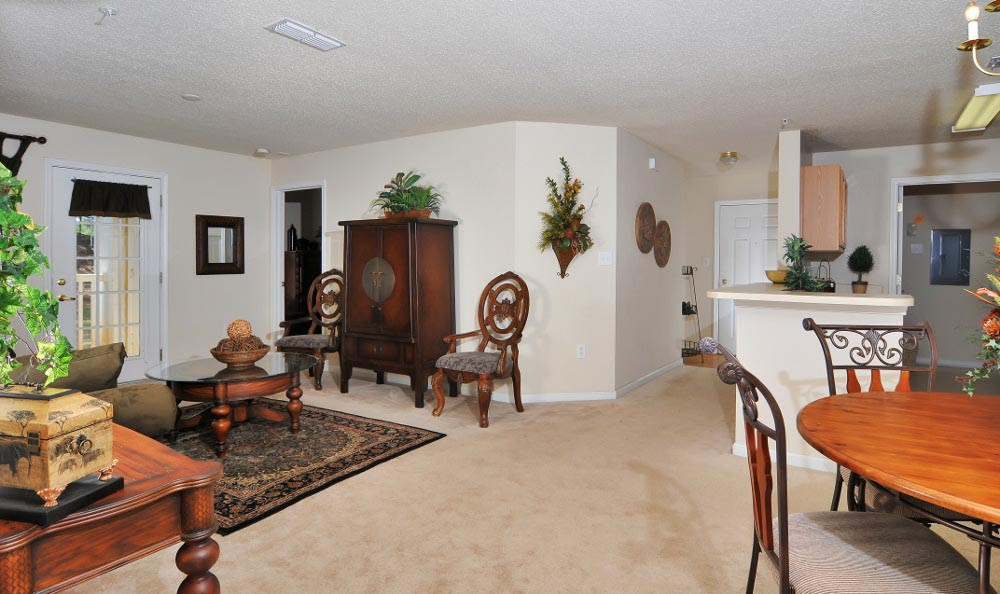 Another view of the living room at Arbor Lake Apartments in Covington, GA.