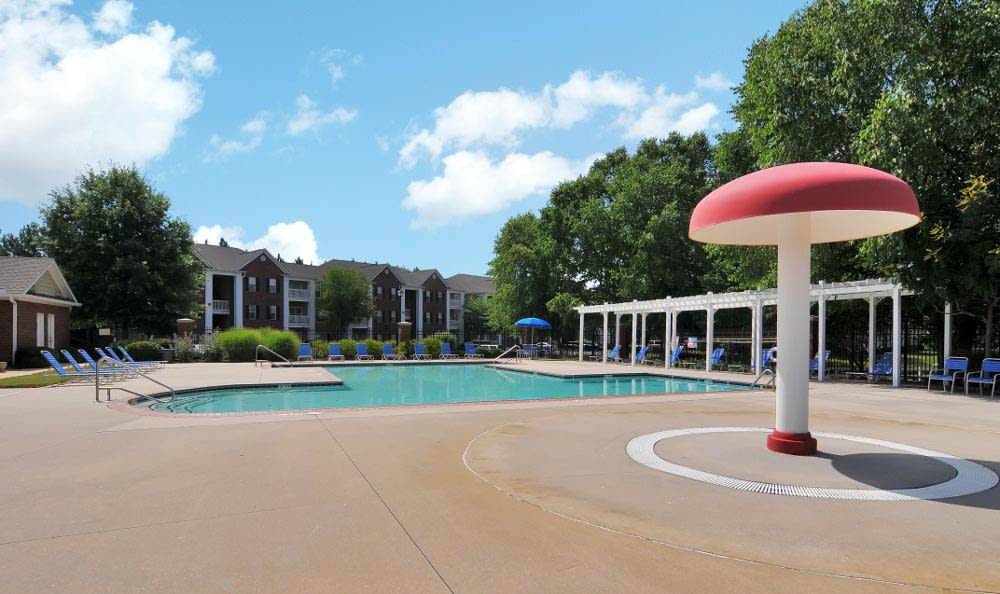 Resort style pool at Arbor Lake Apartments in Covington, GA.