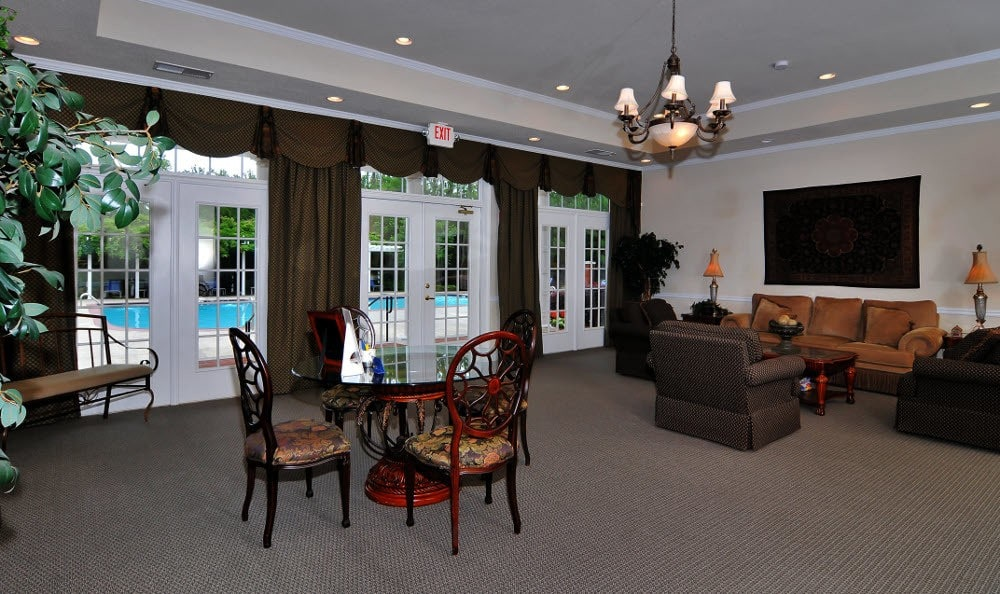 Clubhouse interior at Cobblestone Landing Apartments in Kennesaw, GA