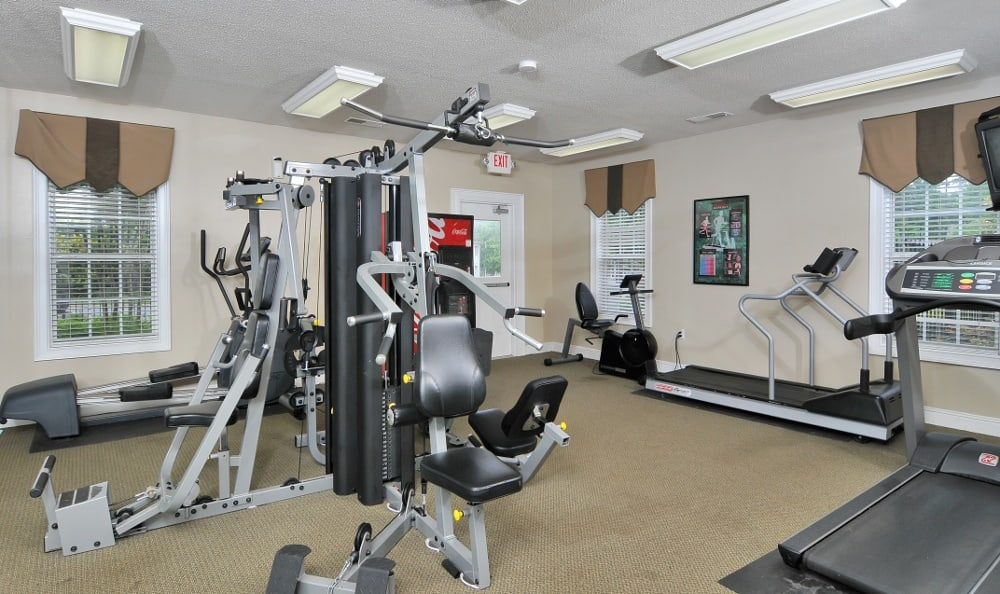 Fitness Center available at Cobblestone Landing Apartments in Kennesaw, GA