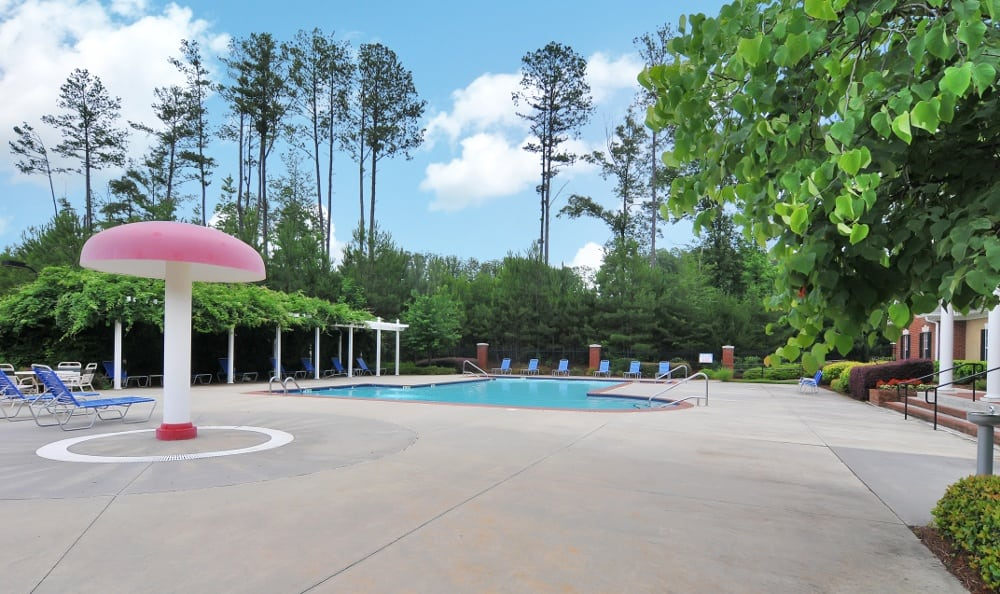 Resort style pool at Cobblestone Landing Apartments in Kennesaw, GA