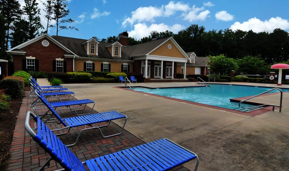 Sun deck at Cobblestone Landing Apartments in Kennesaw, GA
