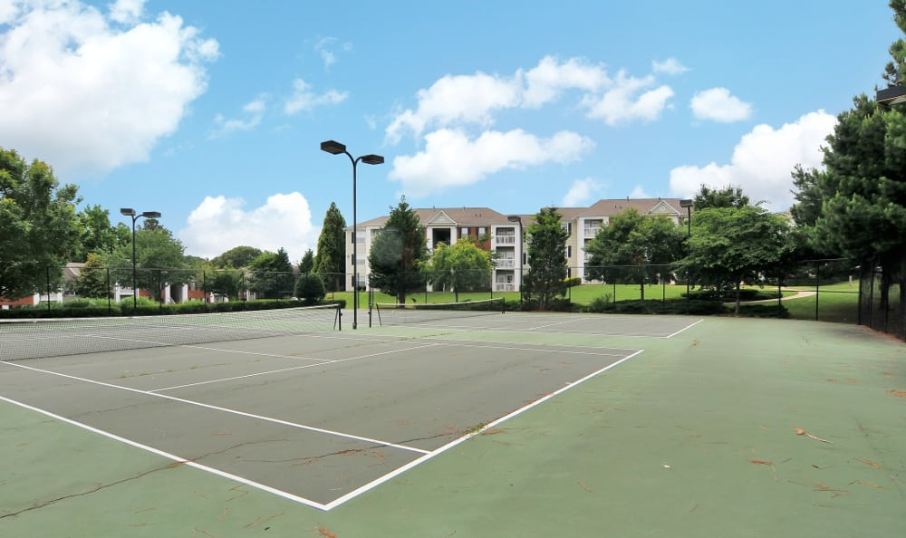 Tennis Court at our apartments in Acworth, GA
