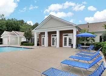 Relax by the pool at Cherokee Summit Apartments
