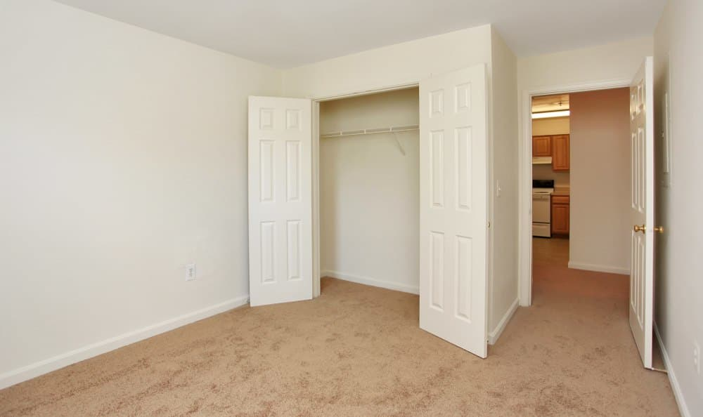 Walk-in closets at England Run North Apartments in Fredericksburg, VA