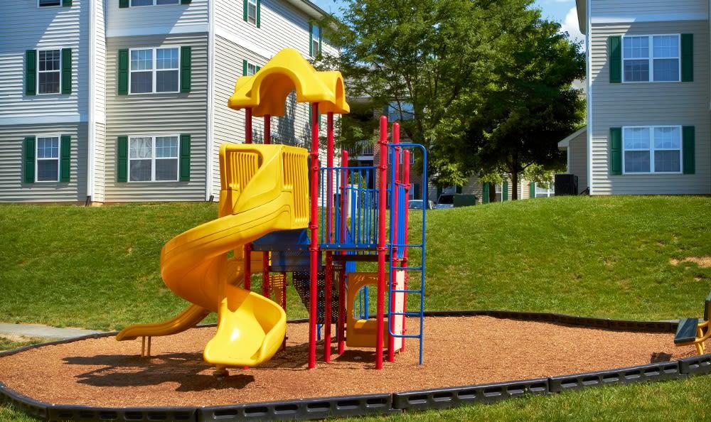 Family Friendly playground at England Run North Apartments in Fredericksburg, VA