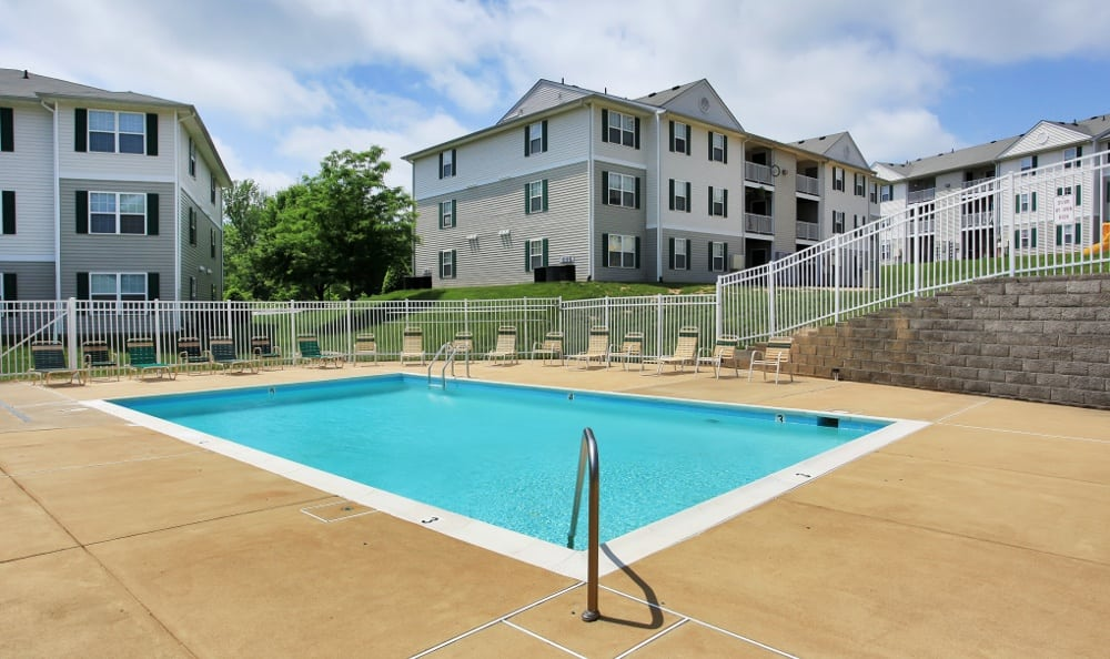 Resort style pool at England Run North Apartments in Fredericksburg, VA