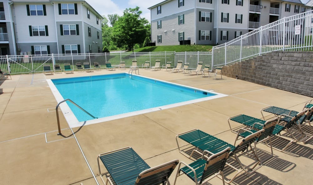 Catch some sun by the pool at England Run North Apartments in Fredericksburg, VA