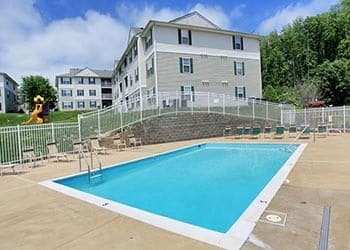Resort style pool at England Run North Apartments