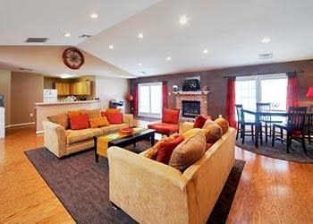 Relax in our clubhouse at England Run North Apartments