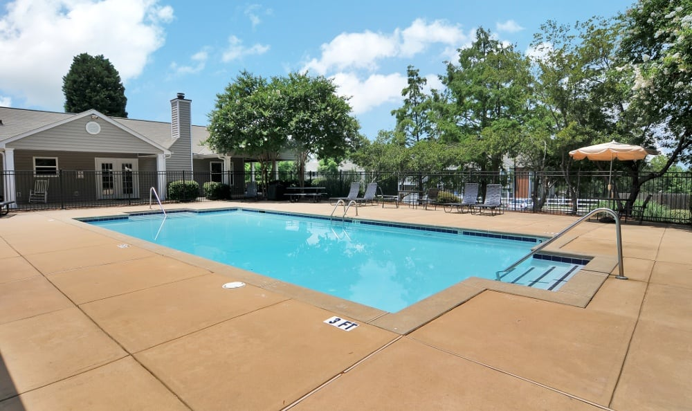 Resort style pool at our apartments in Stockbridge, GA