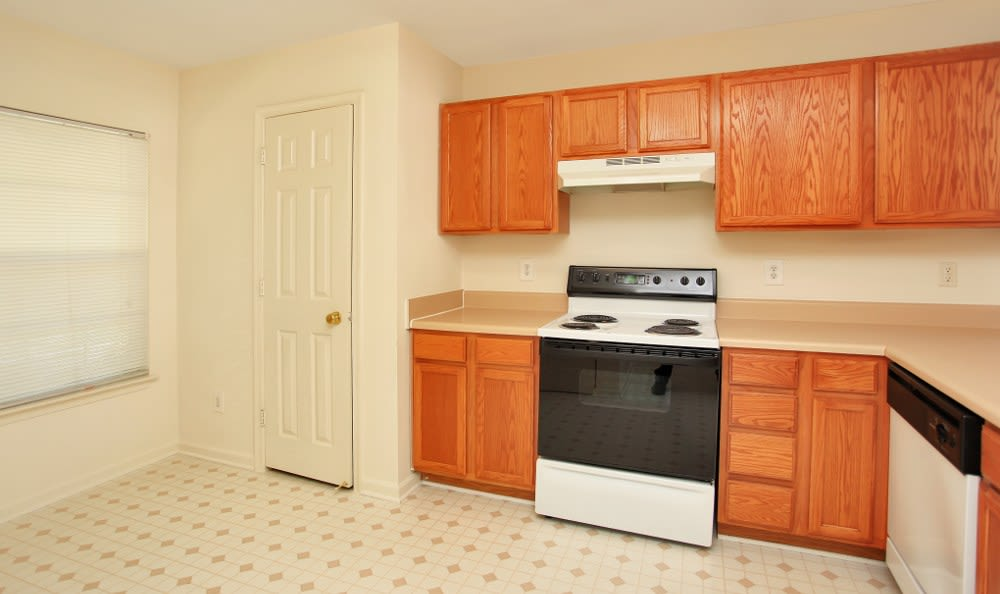 Our Stafford apartments have spacious kitchens