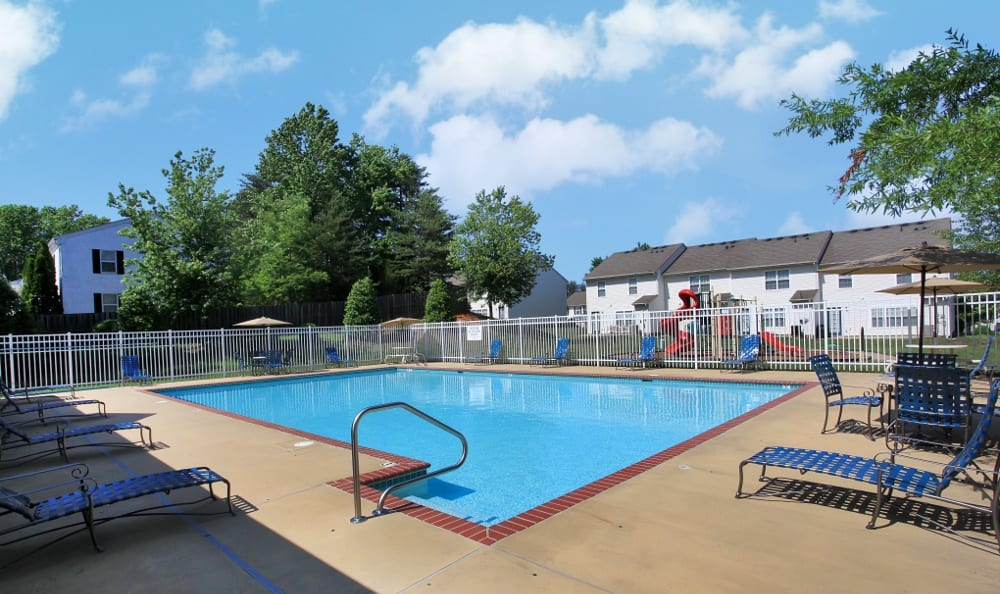 Our Stafford apartments has a sparkling swimming pool