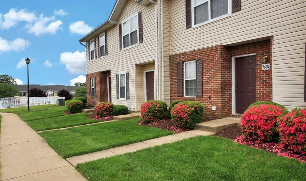 Side view of our apartments here at Timber Ridge