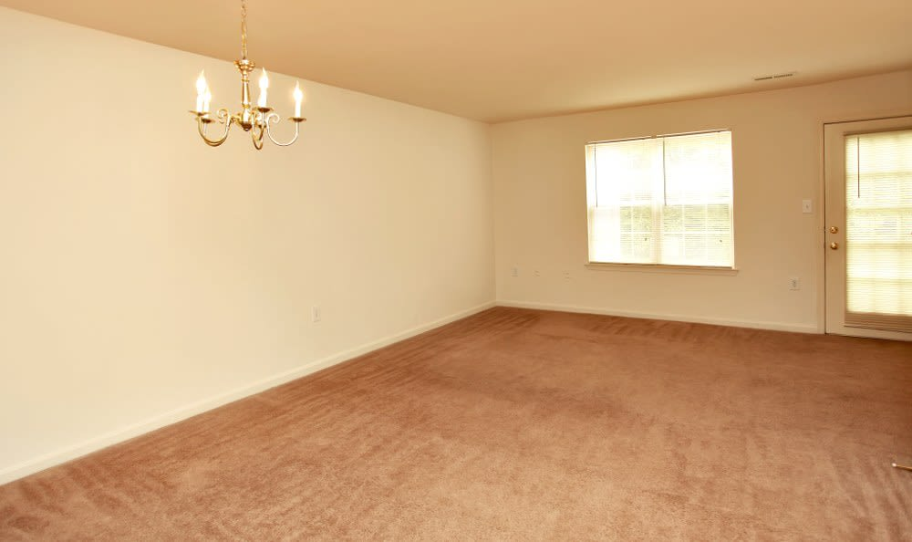 Spacious living rooms here at Timber Ridge