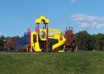 Safe playground at our apartments in Fredericksburg, VA