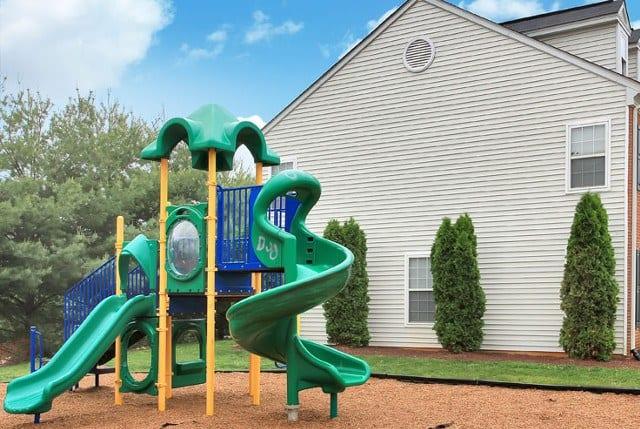 Safe playground at Riverside Manor apartments