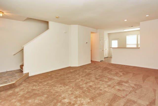 Spacious living rooms at Riverside Manor apartments