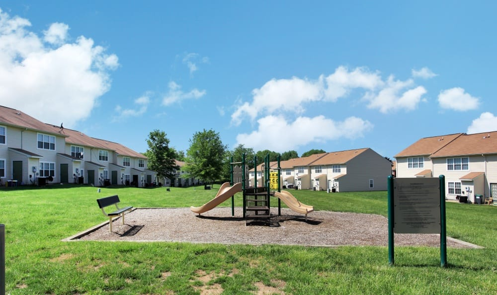 Safe playground at our Stafford apartments