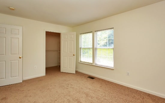 Relax in your new bedroom at England Run Townhomes
