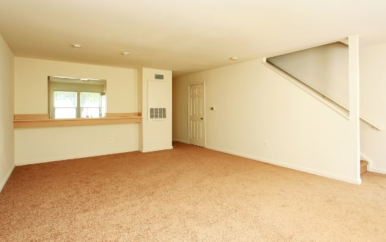 Spacious living rooms here at England Run Townhomes