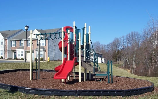 Playground at apartments in Fredericksburg, VA
