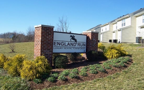 Enjoy the flowers at England Run Townhomes