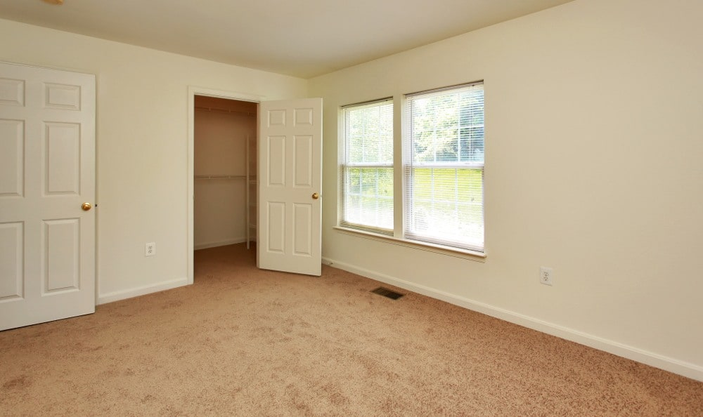 Spacious bedrooms here at our Fredericksburg apartments